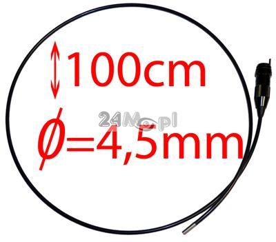 Przewód do kamer inspekcyjnych zakończony minikamerą z obiektywem o średnicy tylko 4,5mm