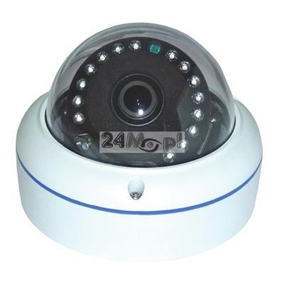 Zewnętrzna kamera 4 w 1 - kompatybilna z systemami AHD, CVI, TVI i CVBS (analogowym), kąt widzenia 360 stopni, 15 diod podczerwieni, IP66