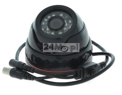 Wewnętrzna kamera kopułkowa ALL in ONE - pełna kompatybilność z systemami AHD, CVI, TVI i CVBS, rozdzielczość FULL HD [1080P], szeroki kąt widzenia, 24 diody IR