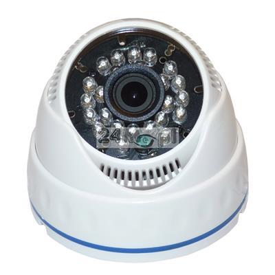 Kamera kopułkowa do monitoringu pomieszczeń - model 4 w 1 (AHD, CVI, TVI i CVBS), FULL HD, SONY EXMOR, szeroki kąt widzenia, 24 diody podczerwieni