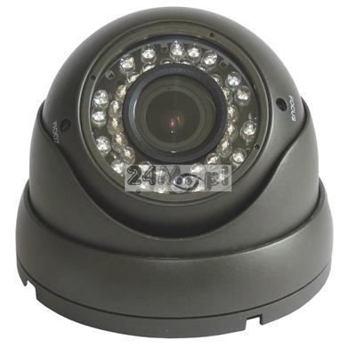 Zewnętrzna kamera kopułkowa 4 w 1 [kompatybilność z systemami AHD, CVI, TVI i CVBS] - rozdzielczość FULL HD (1080P), 36 diod podczerwieni, regulowany obiektyw 2,8-12 mm (4x ZOOM optyczny)