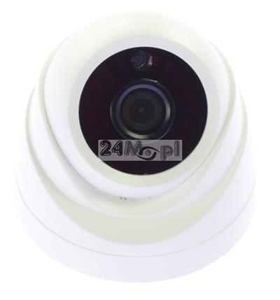 Kamera kopułkowa do monitoringu pomieszczeń - jakość FULL HD, kompatybilność z systemami AHD, CVI, TVI, CVBS, szeroki kąt widzenia (ok. 85 stopni), MENU ekranowe