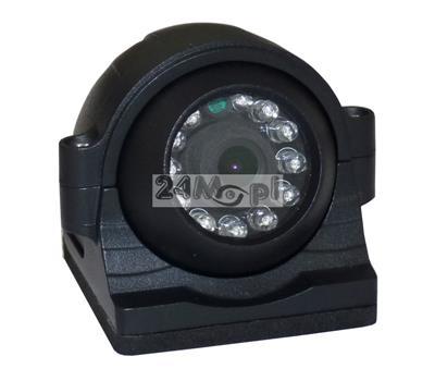 Kamera dedykowana do monitoringu mobilnego pojazdów - markowe podzespoły SONY i NEXTCHIP, szeroki kąt widzenia, 12 diod podczerwieni, wandaloodporna obudowa