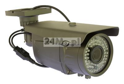 Zewnętrzna kamera AHD 4 MPX [2688 x 1520] - 72 diody podczerwieni, regulowany obiektyw 2,8 - 12 mm, IP66 [hermetyczna obudowa], MENU ekranowe OSD
