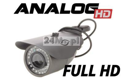 Kamera AHD FULL HD - przetwornik SONY EXMOR, procesor koreańskiej firmy NEXTCHIP, obiektyw 2,8-12 mm, 36 diod IR
