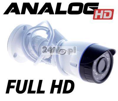 Zewnętrzna, miniaturowych rozmiarów kamera AHD FULL HD - przetwornik SONY EXMOR, procesor NEXTCHIP, 24 diody IR, szeroki kąt widzenia