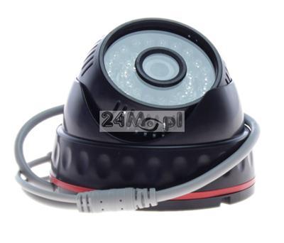 Wewnętrzna kamera kopułkowa AHD - cyfrowa rozdzielczość obrazu [HD], przetwornik SONY 1.3 MPX, 36 diod IR, szeroki kąt widzenia