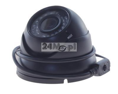 Zewnętrzna kamera kopułkowa AHD 4 MPX [2688 x 1520] - regulowany obiektyw 2,8 - 12 mm, 36 diod podczerwieni, podzespoły SONY i NEXTCHIP