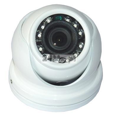 Zewnętrzna, MINI kamera kopułkowa - model 4 w 1 (AHD, CVI, TVI, CVBS), jakość HD, szeroki kąt widzenia, podczerwień, idealna do zastosowań w monitoringu pojazdów
