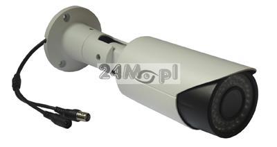 Zewnętrzna kamera AHD FULL HD [1080P - 2 MPX] oparta o markowe podzespoły SONY i NEXTCHIP, regulowany obiektyw 2,8 - 12 mm, 36 diod IR