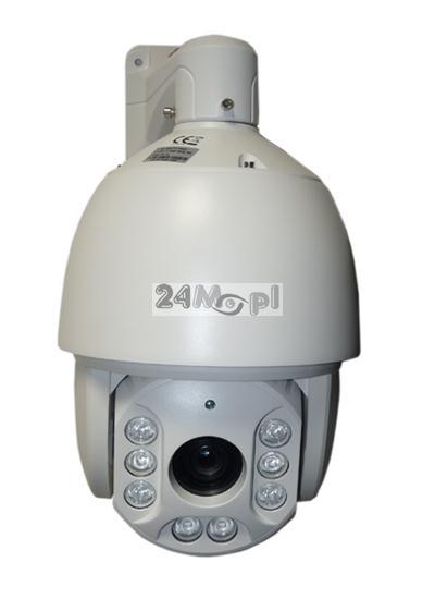 Szybkoobrotowa kamera AHD 2 MPX [1080P] - krystalicznie czysty materiał video w rozdzielczości FULL HD, 8 diod ARRAY LED o zasięgu do 200 metrów, 36x ZOOM optyczny, 4 ścieżki patrolowe i 256 presetów