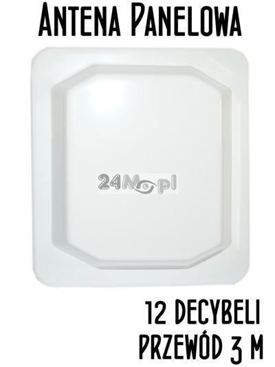 Antena panelowa 12 dB 2.4 GHz z kablem 3m