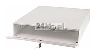 Stalowa obudowa do bezpiecznego przechowywania rejestratorów o wymiarach 555 x 576 x 113 mm