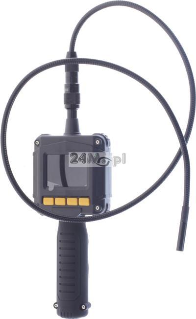 Kamera inspekcyjna z wyświetlaczem LCD i 1 - metrowym przewodem: IP67, diody LED, ZESTAW Z WALIZKĄ