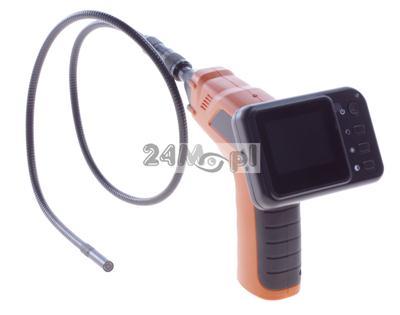 Bezprzewodowa kamera inspekcyjna z wyświetlaczem LCD - diody LED, ZOOM, obiektyw 9 mm, ZESTAW Z WALIZKĄ