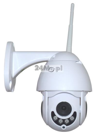 Zewnętrzna kamera obrotowa IP z WiFi - jakość FULL HD, zapis na kartach SD, podczerwień ARRAY LED, szeroki kąt widzenia