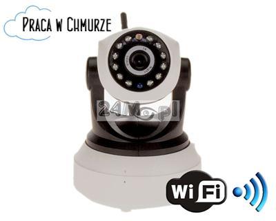 Obrotowa, bezprzewodowa kamera IP WIFI - rozdzielczość HD (1280x720), dwukierunkowa komunikacja głosowa, H.264, płynny ruch, 12 diod IR