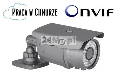 Zewnętrzna kamera kompaktowa IP - 1/3 SONY FULL HD, regulowany obiektyw 2,8-12 mm, 72 diody podczerwieni, wandaloodporna obudowa