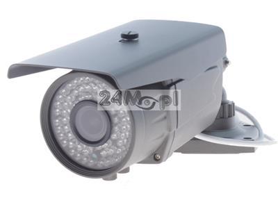Sieciowa kamera IP FULL HD [1080P] z wbudowanym modułem PoE - markowy przetwornik SONY EXMOR, regulowany obiektyw 2,8 - 12 mm, 72 diody IR