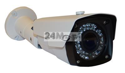 Zewnętrzna kamera kompaktowa IP FULL HD - przetwornik SONY EXMOR, 42 diody podczerwieni, regulowany obiektyw 2,8 - 12 mm, IP66, zasilanie PoE