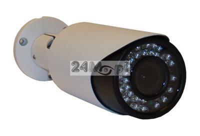 Kamera IP FULL HD w zewnętrznej, hermetycznej obudowie - jakość 1080P, przetwornik SONY, 42 diody podczerwieni, regulowany obiektyw 2,8 - 12 mm, zasilanie PoE