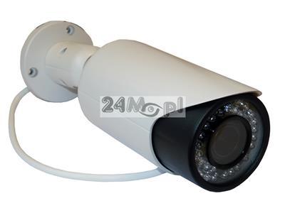 Zewnętrzna kamera IP do monitoringu - rozdzielczość 5 MPX i niższe, regulowany obiektyw 2,8-12 mm, 36 diod podczerwieni, skuteczny monitoring domu, firmy, placów, parkingów