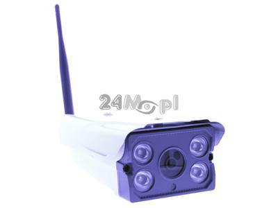 Zewnętrzna kamera IP WiFi z opcją zapisu na kartach microSD - przetwornik SONY 1,3 MPX (HD), szeroki kąt widzenia, technologia ARRAY LED