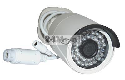 Zewnętrzna kamera IP FULL HD - niepodważalny materiał dowodowy w rozdzielczości 1080P (2 MPX), szeroki kąt widzenia, praca w chmurze (P2P), standard ONVIF, 36 diod podzerwieni