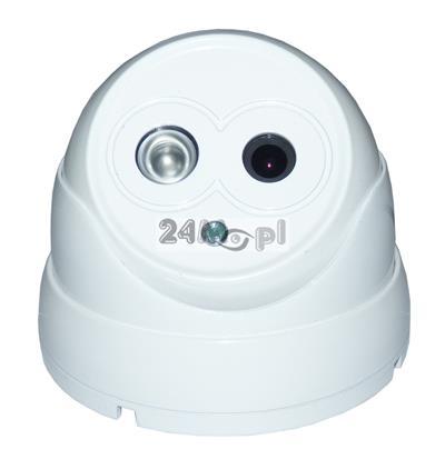 Zewnętrzna kamera kopułkowa IP FULL HD - standard ONVIF, wbudowany moduł PoE, podczerwień ARRAY LED, funkcja P2P [praca w chmurze]