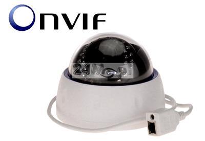 4 - megapikselowa kopułkowa kamera IP do monitoringu wewnętrznego - regulowany obiektyw 2,8 - 12 mm, 30 diod IR, przetwornik SONY EXMOR, praca w chmurze (P2P), zasilanie PoE