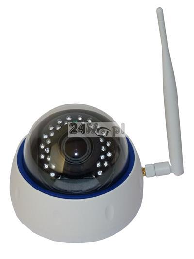 Kopułkowa kamera IP 4 MPX z modułem WiFi - przetwornik SONY EXMOR, regulowany obiektyw 2,8 - 12 mm, 30 zintegrowanych diod IR