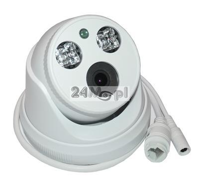 Wewnętrzna cyfrowa kamera IP FULL HD w obudowie kopułkowej - przetwornik marki SONY, technologia ARRAY LED, praca w chmurze