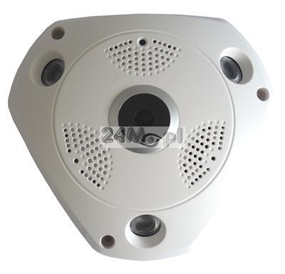 Kamera sieciowa IP FULL HD z kątem widzenia 360 stopni, diody SMART IR LED, ONVIF, praca w chmurze (P2P)