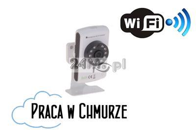 Cyfrowa kamera IP WiFi - HD (1280 x 720), standard ONVIF, szeroki kąt widzenia, dwustronna komunikacja głosowa, praca w chmurze