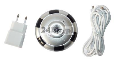 Kamera kopułkowa IP WiFi z kątem widzenia 360 stopni - jakość obrazu HD, dwustronna komunikacja głosowa, zapis na kartach microSD