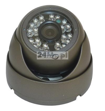 Zewnętrzna kamera FULL HD - model dedykowany do rejestratorów monitoringu mobilnego, szeroki kąt widzenia, 24 diody IR o zasięgu 20 metrów