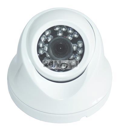 Zewnętrzna kamera kopułkowa IP FULL HD - przetwornik SONY, standard ONVIF, szeroki kąt widzenia, 24 diody podczerwieni o zasięgu 20 metrów, IP66
