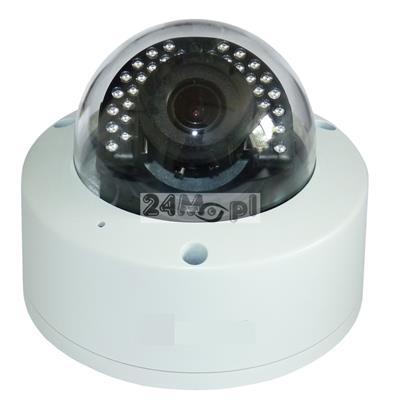 Zewnętrzna kamera IP FULL HD (1080P) - markowe podzespoły SONY, regulowany obiektyw 2,8-12 mm, 32 diody podczerwieni, wbudowany mikrofon, zabezpieczenie przeciwprzepięciowe