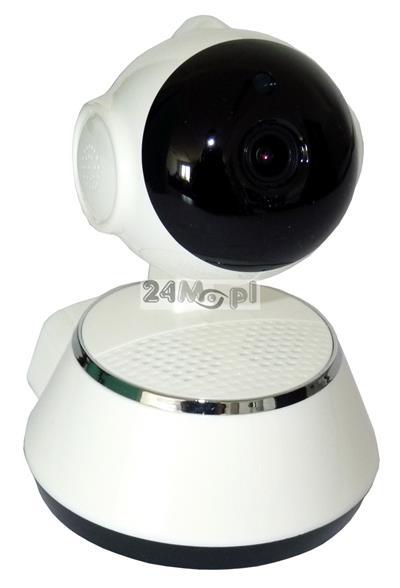 Wewnętrzna, obrotowa kamera IP z WiFi - jakość HD (720P), szeroki kąt widzenia, wbudowany mikrofon i głośnik, podczerwień - idealne rozwiązanie do monitoringu domu, sklepu, firmy