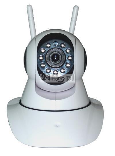 Obrotowa kamera IP do monitoringu - WiFi, cyfrowa jakość HD, idealna do zastosowań w monitoringu domu i jako niania, mechanizm obrotowy PTZ, wbudowany mikrofon i głośnik