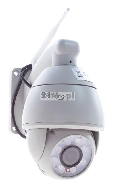 Zewnętrzna, MEGA - pikselowa, OBROTOWA kamera IP z WiFi - jakość HD, 4 x ZOOM optyczny, diody GIANT LED, praca w chmurze, funkcja powiadomień na FTP i E-MAIL