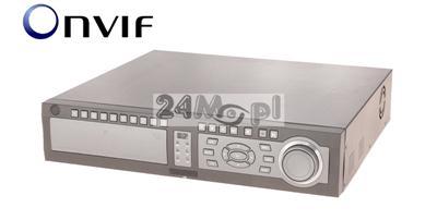 16 - kanałowy rejestrator do kamer IP klasy PREMIUM - płynny ruch w rozdzielczości FULL HD i niższych, obsługa ONVIF, rozbudowana funkcjonalność sieciowa
