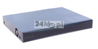 4 - kanałowy rejestrator do kamer IP FULL HD, obsługa standardu ONVIF, funkcja inteligentnej analizy obrazu (VCA), pełny dostęp zdalny przez telefony komórkowe i tablety (Android i Apple iOS)