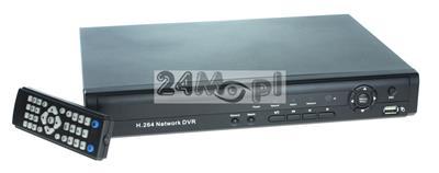 16 - kanałowy rejestrator do kamer IP - obsługa do 5 MPX, płynny ruch, standard ONVIF, H.264, zapis video i audio, pełny dostęp zdalny