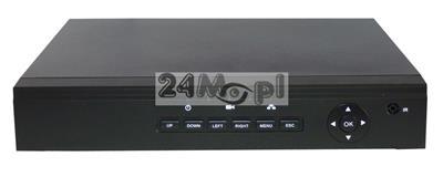 4 - kanałowy rejestrator do kamer IP - wbudowany switch z zasilaniem PoE, wsparcie dla standardu ONVIF, obsługa rozdzielczości FULL HD, program CMS do zarządzania systemem monitoringu GRATIS