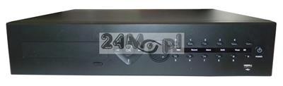 64 - kanałowy rejestrator do kamer IP ONVIF, obsługa rozdzielczości do 5 MPX [2592 x 1920], dostępny tryb REAL TIME [płynny ruch], praca w chmurze, polskie MENU