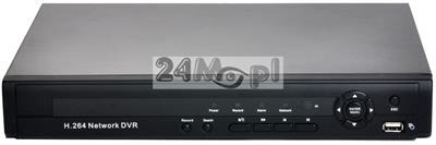 8 - kanałowy rejestrator do kamer IP - rozdzielczość FULL HD (1080P) i HD (720P), standard ONVIF, polskie MENU, pełny dostęp zdalny przez Internet