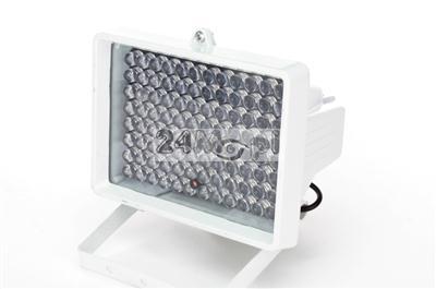 Zewnętrzny doświetlacz podczerwieni - zasilanie 12V, zasięg do 100 metrów, IP66