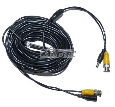 Gotowy przewód połączeniowy 18 m, video na BNC + zasilanie