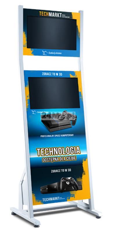 Infokiosk multimedialny z dwoma monitorami - dotykowy ekran, FULL HD, personalizacja funkcjonalności i wyglądu